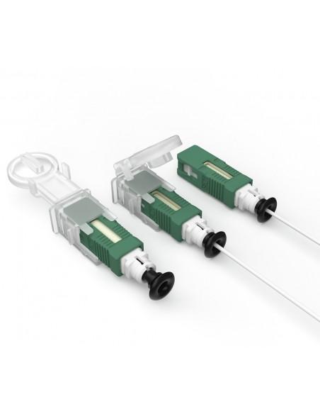 Caja terminal óptica 8 abonados BPEO S0 ECAM CONNECT  IP56 BLANCA  splitter 1:8 SC/APC MONTADO